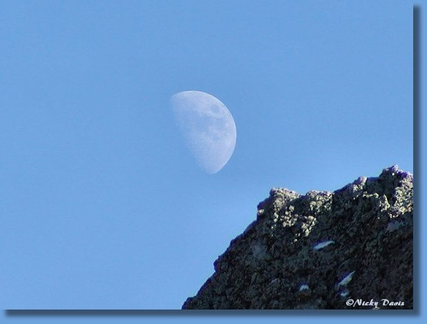 Moon over Rock Cliff