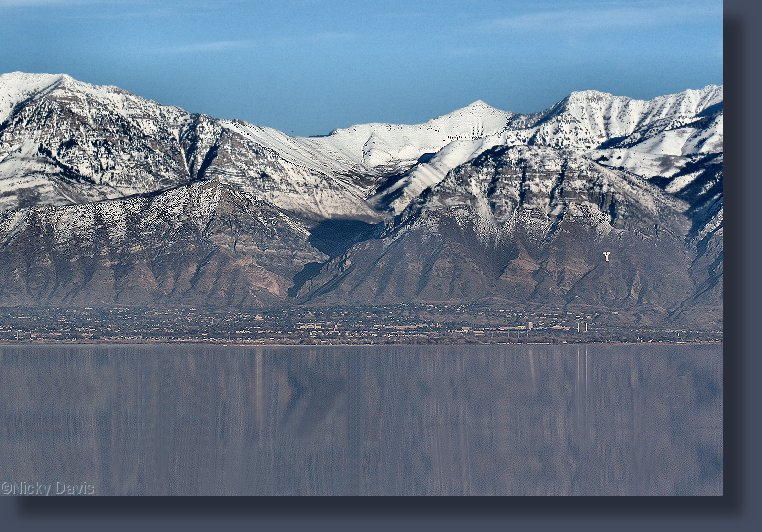 "Rock Canyon-""Y"" Mountain from west of Utah Lake"